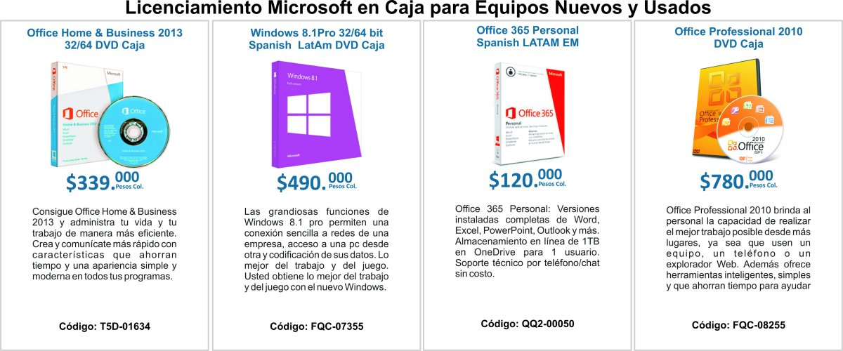 Office Home, Windows 8.1,Office 365, Office 2010